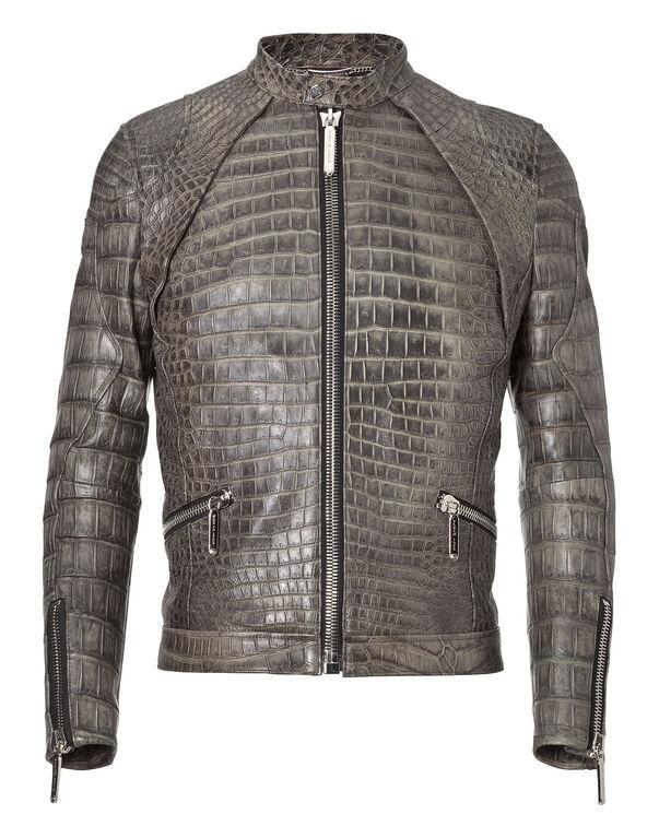 """leather jacket """"nobody else"""""""