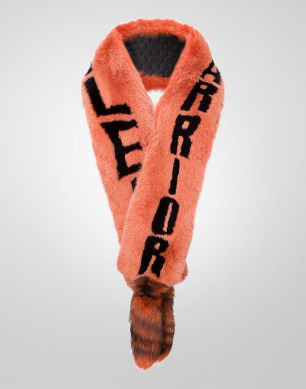 fur scarf plein
