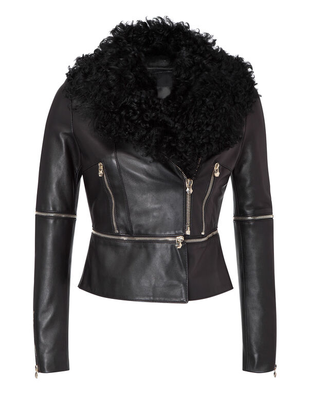 """leather jacket """"limited access"""""""