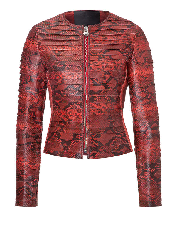 "leather jacket ""snake"""