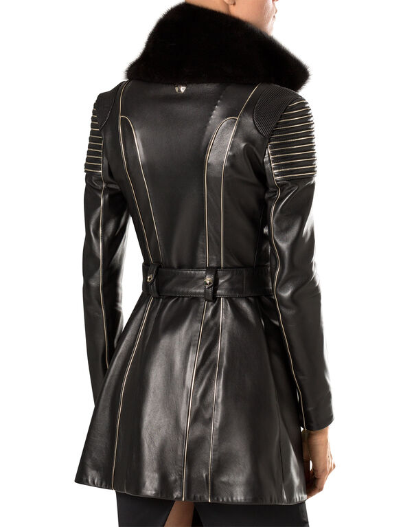 """leather trench """"my pupil"""""""