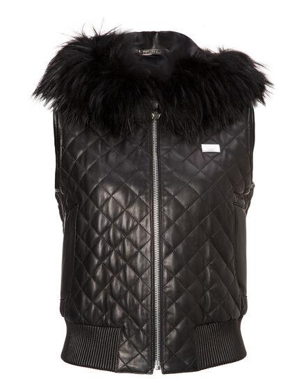 Leather Vest Short Bernard