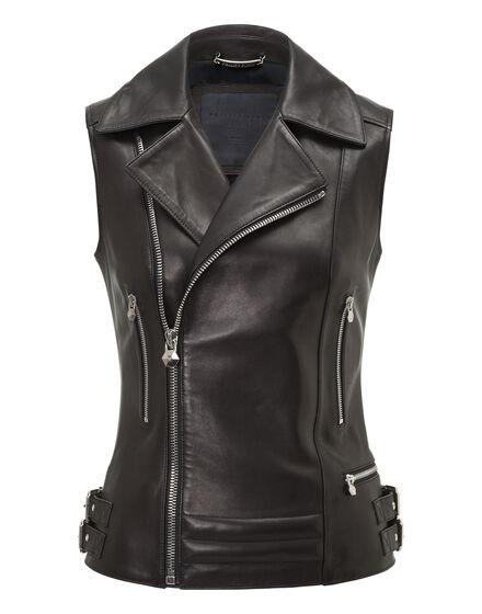 Leather Vest Short Ushers