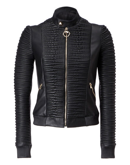 Leather Bomber Broadway