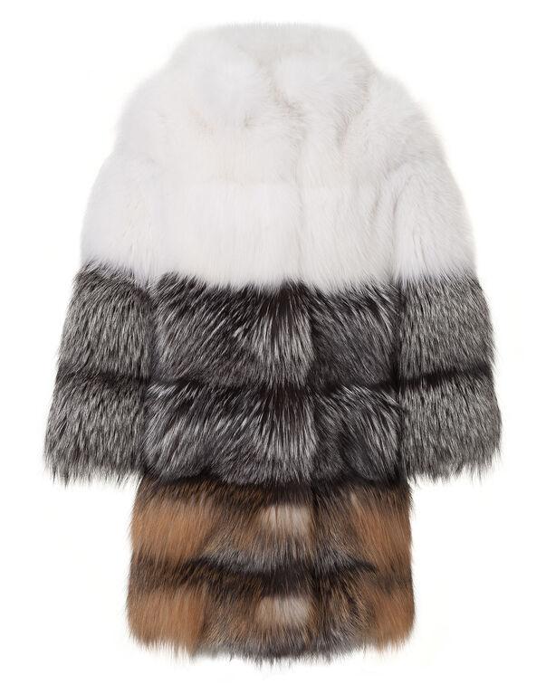 """fur jacket """"bubble"""""""