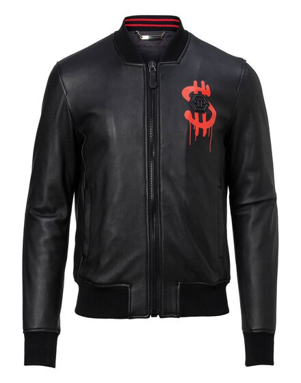 Leather Bomber Money soup