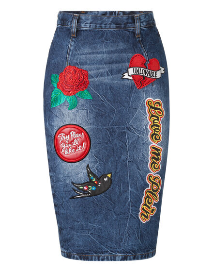 Denim Skirt AguaDulce