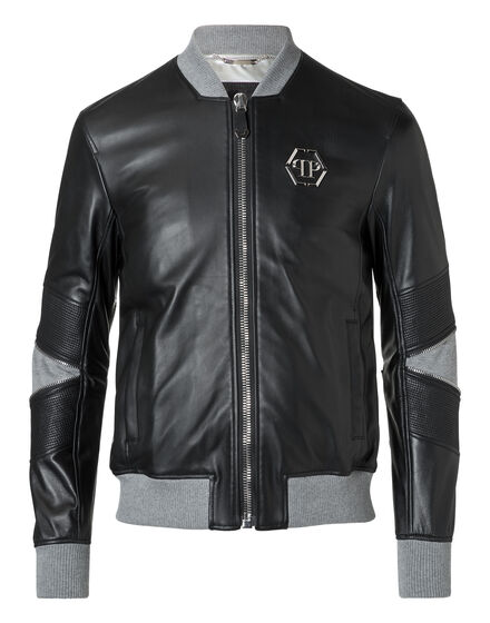 Leather Bomber Mei