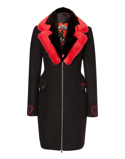 Coat Long Black Woman