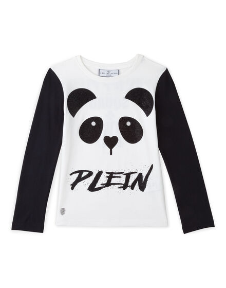 t-shirt short sleeves panda