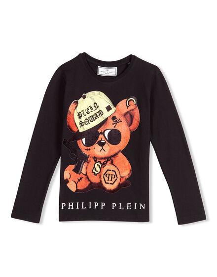 T-shirt Round Neck LS Bling Teddy