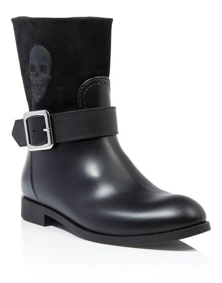 Gummy flat low boots edelweiss