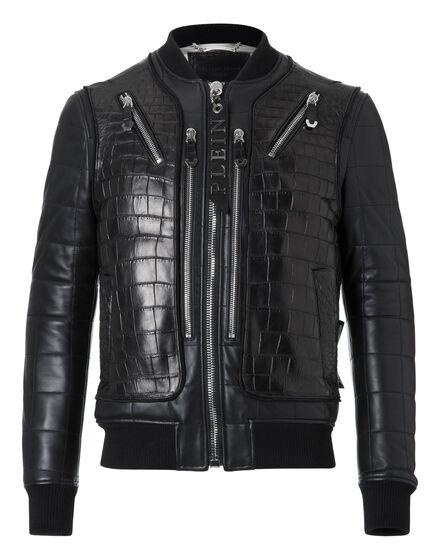 Leather Bomber Jackie