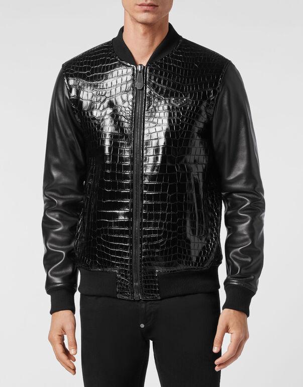 Crocodile Leather Bomber Luxury