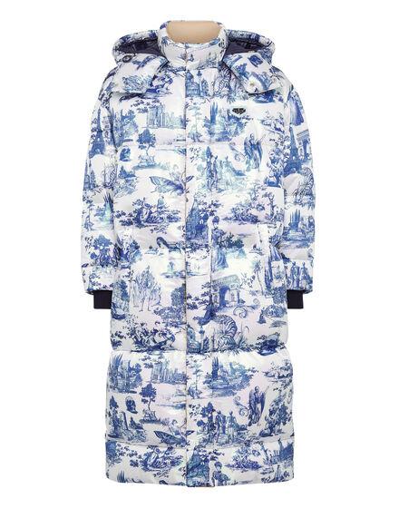 Nylon Long Jacket print En PLEIN air
