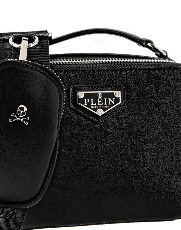 Leather Shoulder Bag Iconic Plein