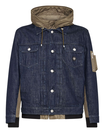 Nylon and Denim Jacket