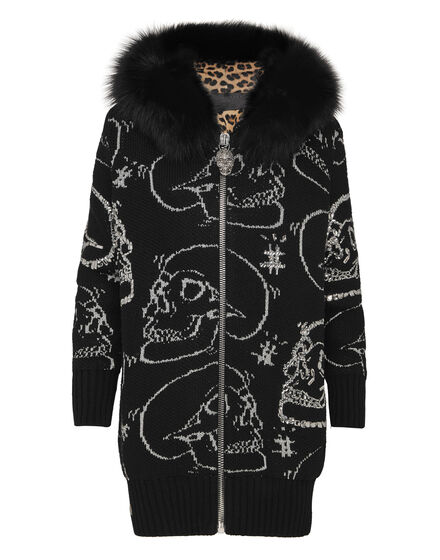 Knit Jacket Look At Me Skull strass