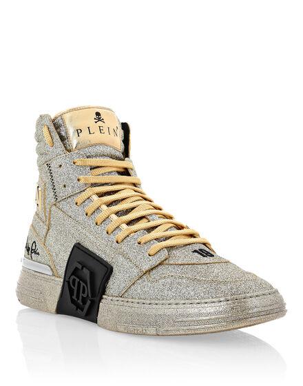 PHANTOM KICK$  Hi-Top Sneakers Gold
