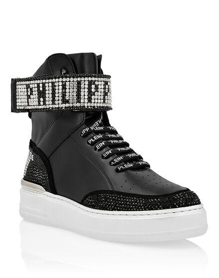 Hi-Top Sneakers Crystal Plein