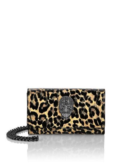 Patent Leather Mini Shoulder Leopard