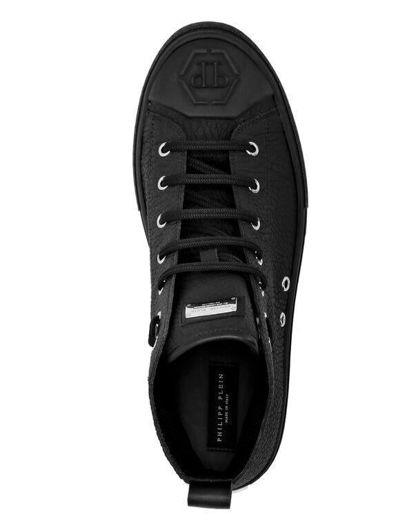 Leather Hi-Top Sneakers Megastar