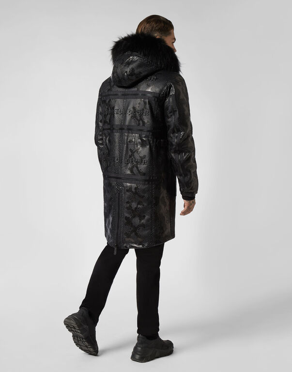 Long Coat Pyton Zipped