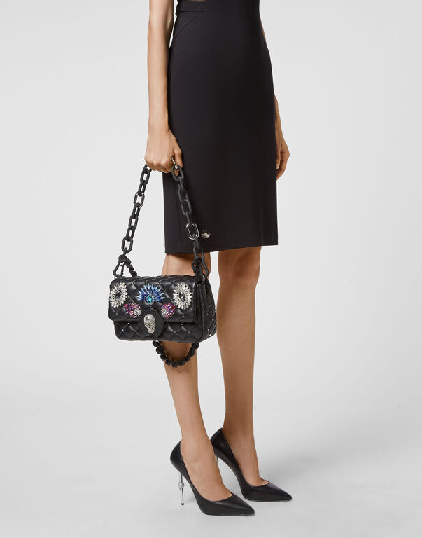 Leather Flap Bag Multicolor Brooches