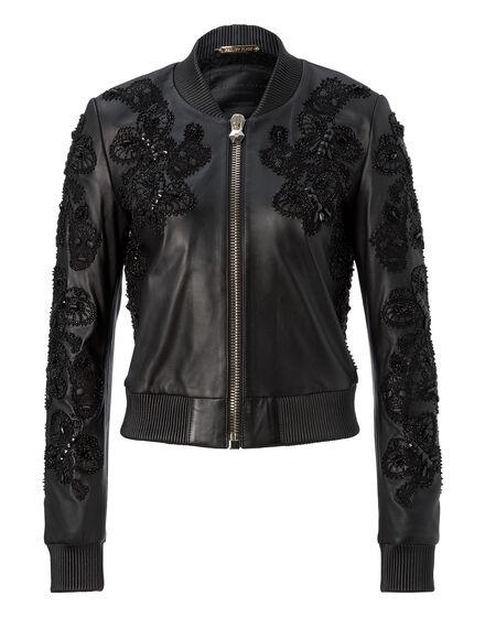 leather bomber beloved