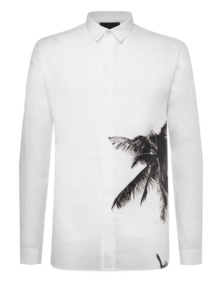 Shirt Crystal cut LS Aloha Plein