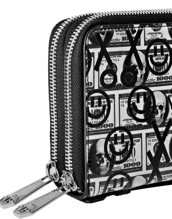 Patent Wallet Double zip around Dollar