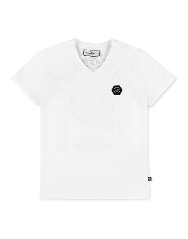 T-shirt V-Neck SS stones Philipp Plein No Limit$
