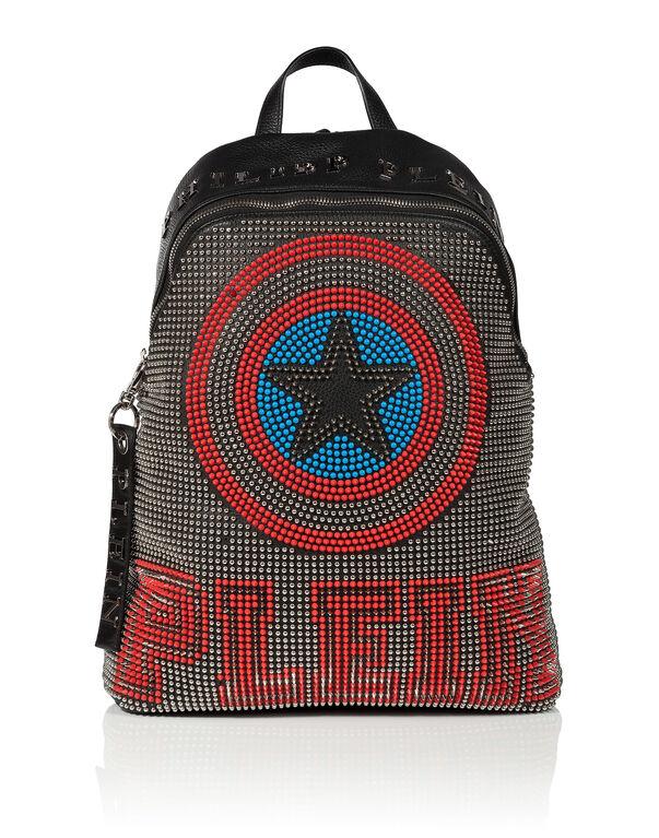 "leather backpack ""ocean avenue"""