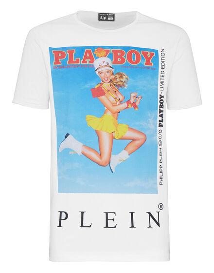 T-shirt Platinum Cut Round Neck Playboy