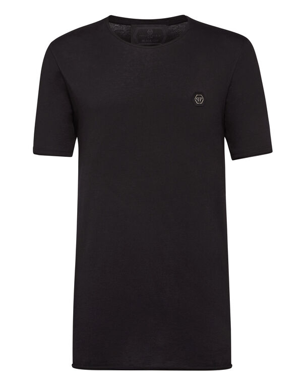 T-shirt Black Cut Round Neck Original