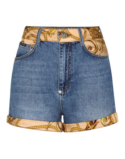 Denim High Waist Hot pants insert New Baroque