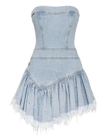 Denim Dress Crystal