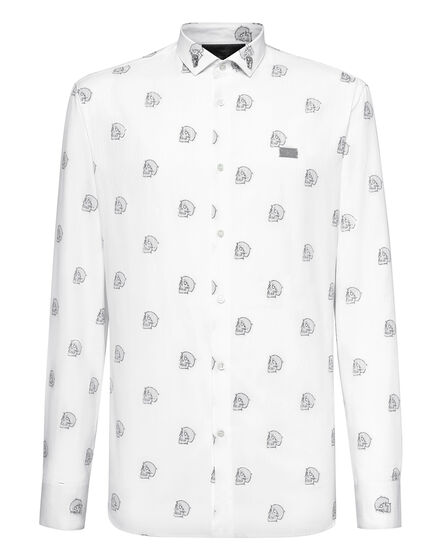 Shirt  Allover Outline Skull