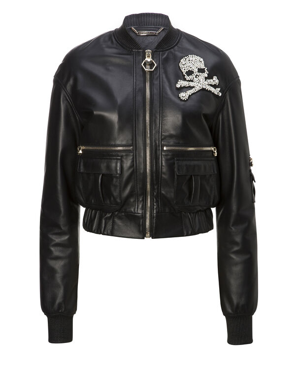 "Leather Bomber ""Barrow Street"""