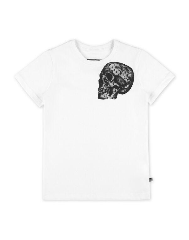 T-shirt Round Neck SS stones Skull
