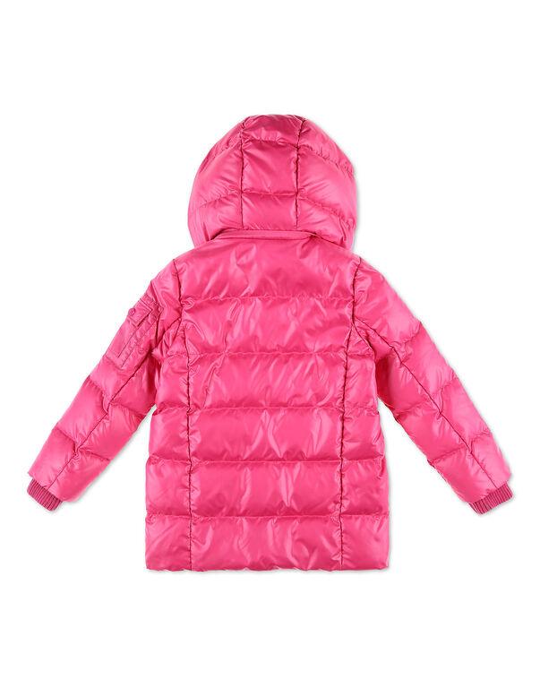 Nylon Satin Jacket Iconic Plein