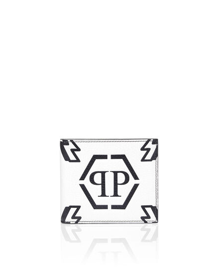 Leather French wallet Embossed Monogram