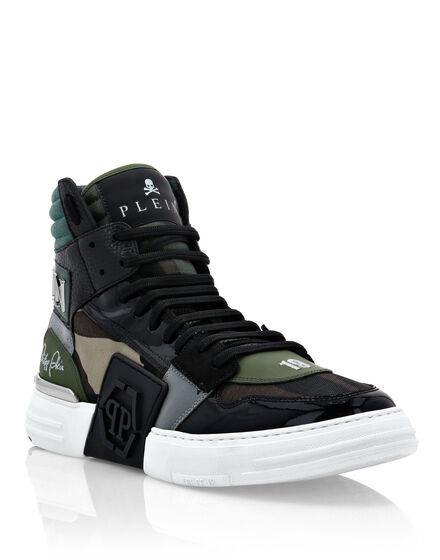 Canvas PHANTOM KICK$ Hi-Top Sneakers Camouflage