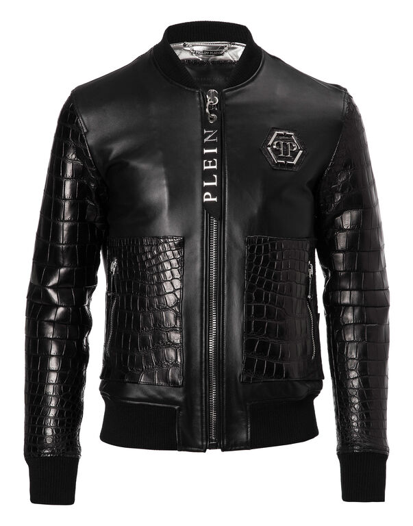 "Leather Bomber ""York"""