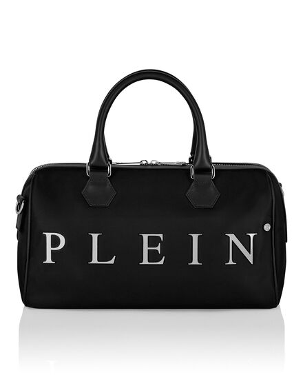 Nylon Big Travel Bag Iconic Plein