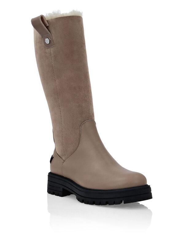 Boots Mid Flat Iconic Plein