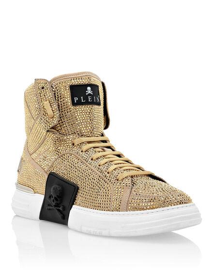 PHANTOM KICKS Hi-Top Sneakers Gold