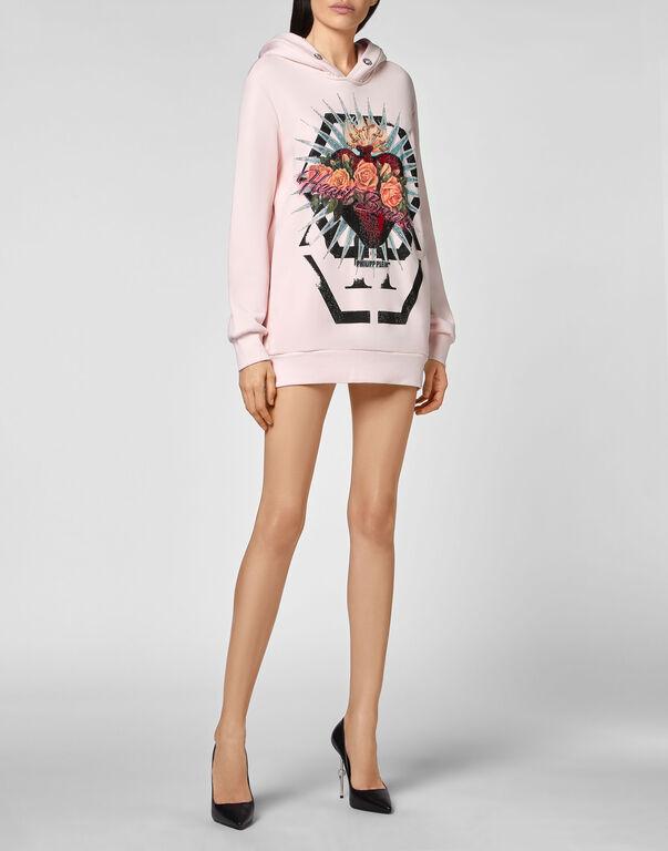 Hoodie sweatshirt Dress Heart Breaker