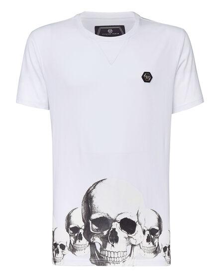T-shirt Platinum Cut Round Neck Smile