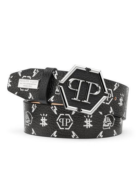 Leather Belt print Monogram